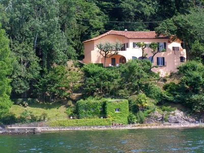 Photo for Unique villa directly on the shores of Lake Maggiore!