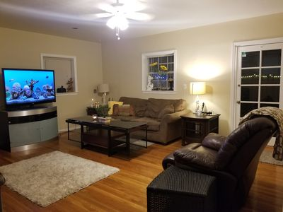 Photo for Private large outdoor patio,  hot tub ,2 beds, 2 bath Small  Private Events