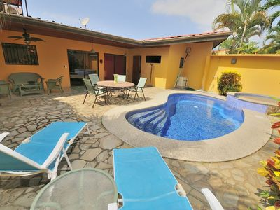 Photo for Casa Sueno-Private POOL & Jacuzzi, Center of Jaco - Steps to the beach!