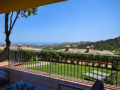Photo for Luxurious holiday home with private garden and sea views in Elviria, Marbella