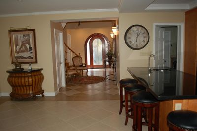 View from living room to entrance, villa #17.