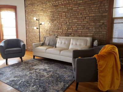 Photo for Loft apt, nearby bus to Navy Pier, mins from United Center