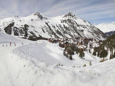 Photo for Mont Blanc view in luxury 'Ski-in/Ski-out' resort (undergoing refurb)