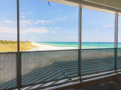 Photo for Beachfront with stunning Gulf views & easy access! Snowbird rates!