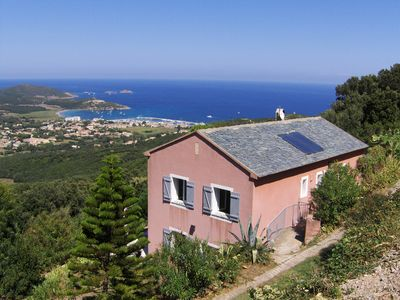 Photo for Charming house in a quiet, panoramic mountain sea view, for rent in Corsica