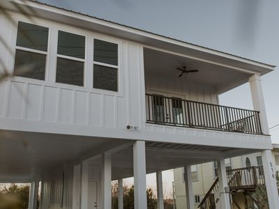 Photo for NEW LISTING! Brand new beach home w/kitchen & furnished balconies- walk to water