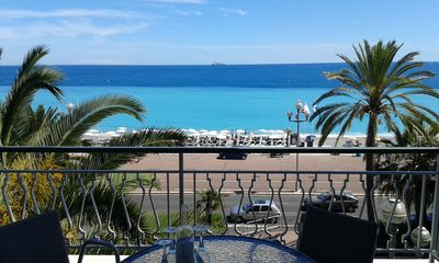 View of Mediterranean sea from balcony