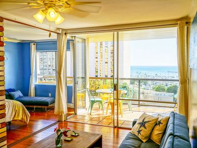 Photo for Rare Vacation Rentals in Waikiki! Ocean View 2 Bedroom 1 Parking!