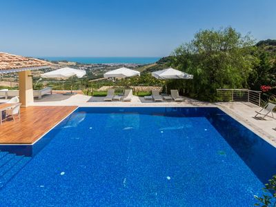 Photo for Villa Stella with sea view and wellness area in the south of Marche,10 minutes from the Adriatic sea
