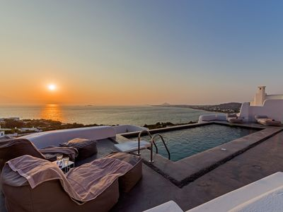 Photo for Luxury Villa Agnanti Naxos Aegean Island, 4 Bedrooms 4 Bathrooms, Up to 10 Guests, sophisticated premium design and outstanding views