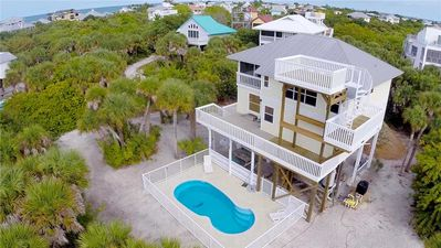 Photo for Secluded, 4 bedroom, 2.5 bath, private pool home near reserve and sugar beach!