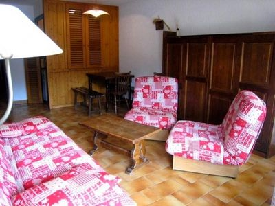 Photo for Apartment La Clusaz, studio flat, 6 persons