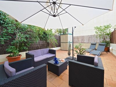 Photo for Apartment in the center of Barcelona with Internet, Lift, Terrace, Washing machine (442984)