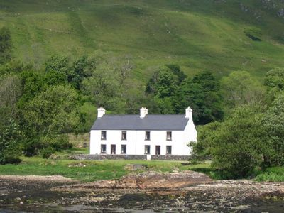 Photo for Pier House 1 - Semi-detached, stone-built cottage on lochside