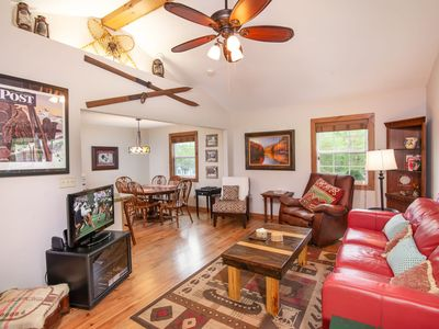 Photo for Cozy Home Near Blowing Rock, NC, Stone Fireplace, Foosball Table, Close to Ski Slopes
