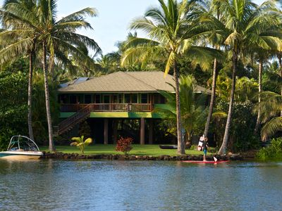Photo for Wailua Beach and River, Weddings, Ski, Kayak, SUP & Swim from your back lawn
