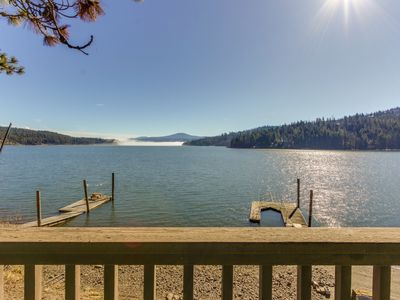 Photo for Charming lakefront cabin w/ dock, kayak, canoe, & stunning views