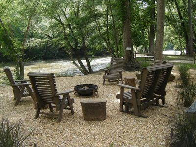 Photo for At Casa Del Rio, sit right on the banks of the Coosawattee River or relax in the luxury hot tub.  No