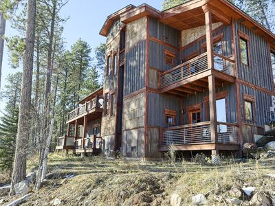 Photo for Unique 4 BR Cabin with 2 Master Suites, Hot Tub, Access to Heated Pool!