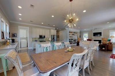 Kitchen, Dining, Living Rm