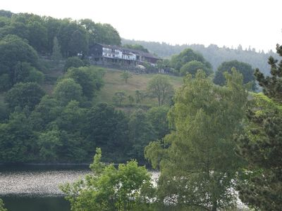 Photo for SeeSicht3 - Small, fine apartment with balcony and beautiful lake view 70m to Rursee