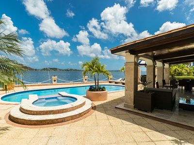 Cielos Azules... Luxurious waterfront villa in gated Pointe Pirouette, close to Maho & Mullet Bay!