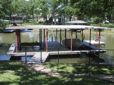 Photo for Beautiful Lakefront Home - Amazing Dock w/swing into the water - Jet Ski Lift