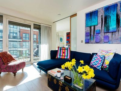 Photo for Bright, inviting 1BR moments from Imperial Wharf station & river Thames (Veeve)