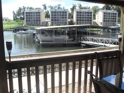 Photo for 2 Bed 2 Bath Ground Floor Lake Front Condo with Boat Slip 50 feet away!