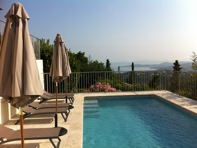 Photo for holiday house with a fantastic vue on the bay of Saint-Tropez