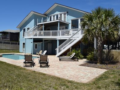 Photo for Great Gulf View Beach House w/ private pool. Large Deck Space, pet-friendly.