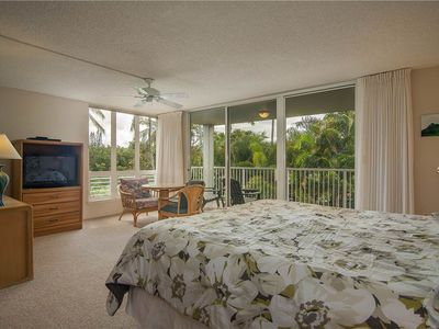 Photo for Enjoy the cool tradewinds at this partial ocean view Cliffs condo #5201 at the Princeville resort