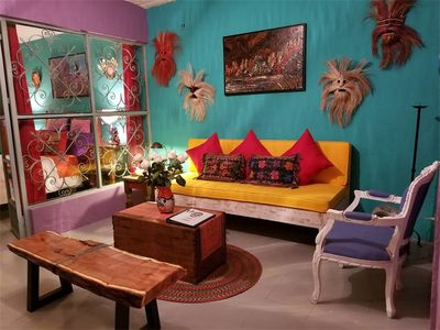 Photo for Casa Linda, cozy, colorful one bedroom in convenient artsy neighborhood