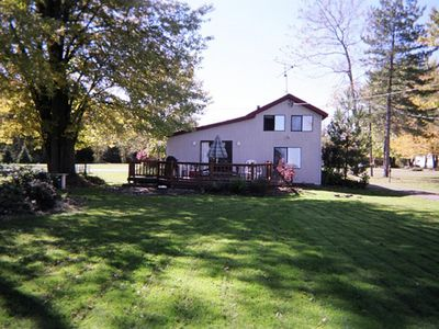 Photo for Lakeside cottage in cemter of lake chautauqua with a beautiful view.