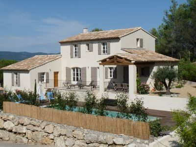 Photo for Superb contemporary villa enjoying a magnificent view of the Luberon.