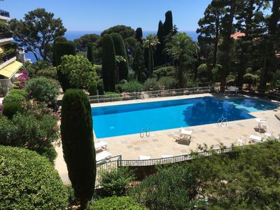 Photo for Beautiful apartment by Med & Plage Mala, lovely swimming pool, close to Monaco
