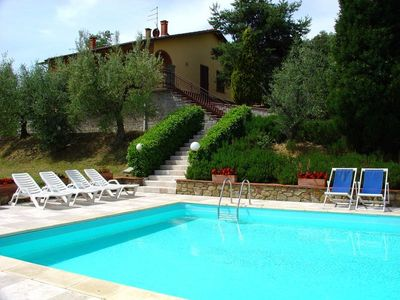 Photo for Villa with private pool and garden. Panoramic and quiet position. Monte San Savino.