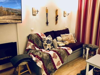 Photo for Comfortable apartment on the ground floor for 4 people - Le Lautaret
