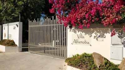 Secure entrance gate to the villa