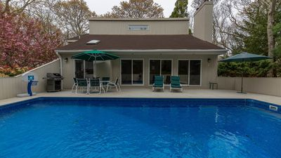 Photo for New Listing: Private Amagansett Escape on a Half-Acre w/ Heated Pool, Perfect for Families