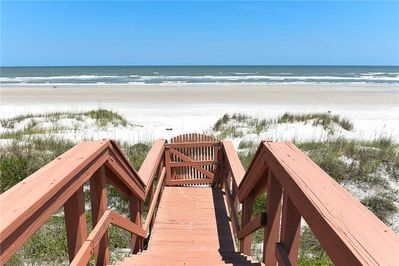 It's Vacation Time! - Nothing says vacation better than a fun-filled day at the beach! Ditch the flip flops and enjoy the warm sand between your toes, life is good in St. Augustine Beach!