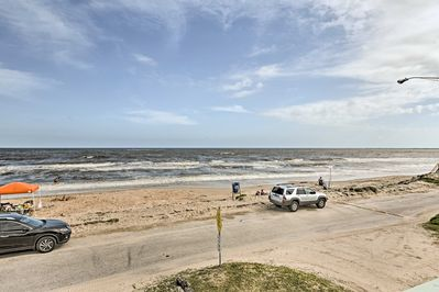 The Gulf of Mexico is right across the street from the property!
