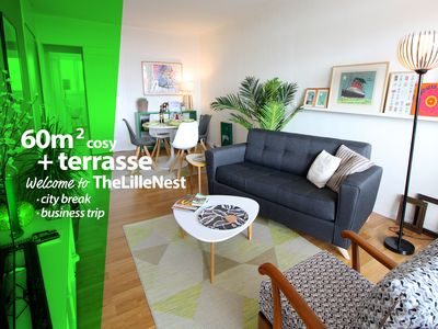 Photo for Bright and cosy +650  flat with terrace