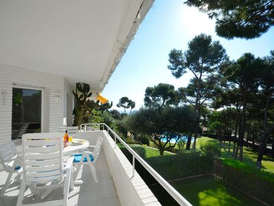 Photo for Top floor apartment situated 400 meters from the beach in Platja Fonda,  in a very quiet L