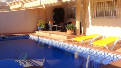 Photo for Villa, private pool, air conditioning, internet, beach and shops nearby