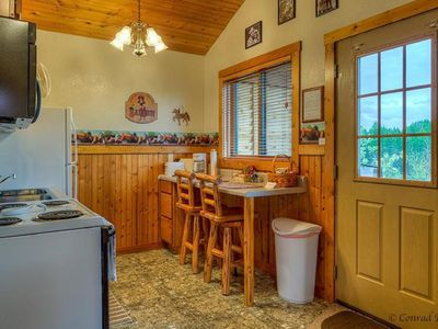 Photo for COWBOY CABIN – BEAUTIFUL PRIVATE SETTING, 6 MILES TO GLACIER PARK