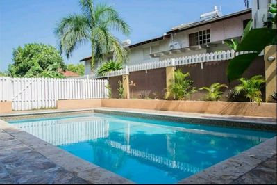 Enjoy the beautiful pool at this property.