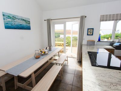 Photo for Great south facing valley views, nearby coastal path and stunning surfing beach.