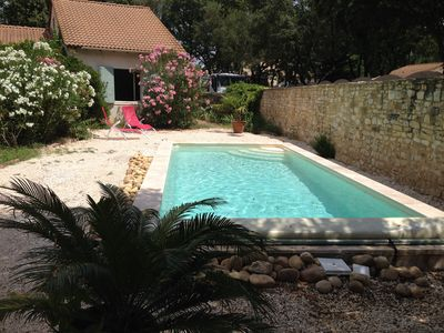Photo for Arpaillargues Et Aureillac: near Uzes holiday house with pool 7m: 3 beds / 135 m2 in the center of a large garden