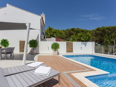 Photo for Dunas Design Villa: private heated pool with kid section & fence, walk to beach